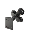 "RAM-101U-B-SPX1 - RAM Triple Suction Cup Mount with Short Double Socket Arm & 2/2.5"" Round Bases AMPs Hole Pattern"
