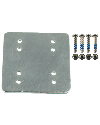 "RAM-202-225BU - 3 x 3 backer plate w/ AMPS and 1.5"" x 2"" hole patterns with hardware"