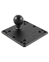 "RAM-246U - RAM 4.75"" Square Base with VESA (4 X 75mm) (4 X 100mm) Hole Patterns & 1.5"" Ball"