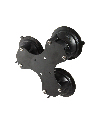 RAM-333-224-1U - RAM Twist-Lock™ Triple Suction Cup Base with 4-Hole AMPS Hole Pattern