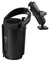 "RAM-B-102-132U - RAM 1"" Ball Mount with Diamond Base, Level Cup™ Drink Holder & Koozie"