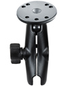 "RAM-B-103U - RAM 1"" Ball Medium Length Double Socket Arm with 2.5"" Round Base that contains the AMPs Hole Pattern"
