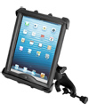 "RAM-B-121-TAB8U - RAM Yoke Clamp Mount with Tab-Tite™ Universal Spring Loaded Cradle for 10"" Tablets including HEAVY DUTY CASES"