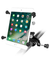 "RAM-B-121-UN8U - RAM Yoke Clamp Mount with Universal X-Grip® Cradle with 1"" Ball for 7"" Tablets"