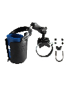 RAM-B-132R-2 - RAM Strap Clamp, Roll Bar Mount with Double Socket Arm & Self-Leveling Drink Cup Holder (Koozie Included)