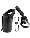 RAM-B-132R-2U - RAM Strap Clamp, Roll Bar Mount with Double Socket Arm & Level Cup™ Drink Holder (Koozie Included)