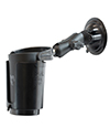 RAM-B-132SU-MC1 - RAM Twist Lock Suction Cup Mount with Self-Leveling Cup Holder - No Koozie