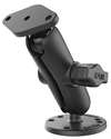 "RAM-B-138U - RAM 1"" Ball Mount with Double Socket Arm, 2.5"" Round Base & Diamond Base"