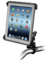 RAM-B-149Z-TAB3U - RAM Handlebar or Rail Mount with Tab-Tite™ Universal Spring Loaded Cradle for the Apple iPad 1-4 WITH OR WITHOUT LIGHT DUTY CASE