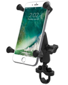 RAM-B-149Z-UN10U - RAM Handlebar Rail Mount with Zinc Coated U-Bolt Base & Universal X-Grip® Large Phone/Phablet Cradle
