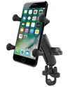 RAM-B-149Z-UN7U - RAM Handlebar Rail Mount with Zinc Coated U-Bolt Base and Universal X-Grip® Cell/iPhone Cradle