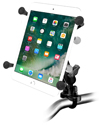 "RAM-B-149Z-UN8U - RAM Handlebar Rail Mount with Zinc Coated U-Bolt Base and Universal X-Grip® Cradle for 7"" Tablets"