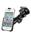 RAM-B-166-AP9U - RAM Twist Lock Suction Cup Mount for the Apple iPhone 4 & iPhone 4S WITHOUT CASE, SKIN OR SLEEVE