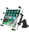"RAM-B-189-PIV1-UN9U - RAM Dual Pivot Suction Cup with Standard Length Double Socket Arm and Universal X-Grip® Cradle for 10"" Large Tablets"
