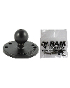 "RAM-B-202-G3U - RAM 2.5"" Round Base AMPs Hole Pattern, 1"" Ball & Mounting Hardware for the Garmin StreetPilot 7200 & 7500"