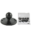 "RAM-B-202-G4U - RAM 2.5"" Round Base AMPs Hole Pattern, 1"" Ball & Mounting Hardware for the Garmin Striker 4 Series"
