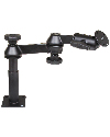 "RAM-VP-SW1-45 - RAM Double Swing Arm with 4"" Male Tele-Pole™, 5"" Female Tele-Pole™ & 2.5"" Round Base AMPs Hole Pattern"