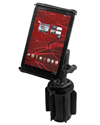 "RAP-299-3-B-102-TAB-SM - RAM-A-CAN™ II Universal Cup Holder Mount with Tab-Tite™ Universal Spring Loaded Cradle for 7"" Screen Tablets"