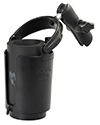 RAP-B-132B-201U - RAM Level Cup™ Drink Holder with Koozie & Double Socket Arm