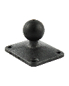"RAP-B-202U-225 - RAM 1"" Ball Base and Composite Rectangular Plate with 1.5"" x 2"" 4-Hole Pattern"