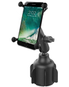 RAP-B-299-4-UN10U - RAM Stubby™ Cup Holder Mount with Universal X-Grip® Large Phone Holder