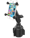 RAP-B-299-4-UN7U - RAM Stubby™ Cup Holder Mount with Universal X-Grip® Phone Holder