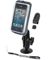 RAP-B-378-AQ7-1 - RAM Adhesive Flex Base Mount with Aqua Box® Pro 10 Case with Accessories